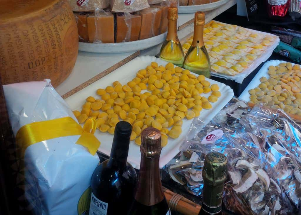 Produtos e pratos típicos de Parma
