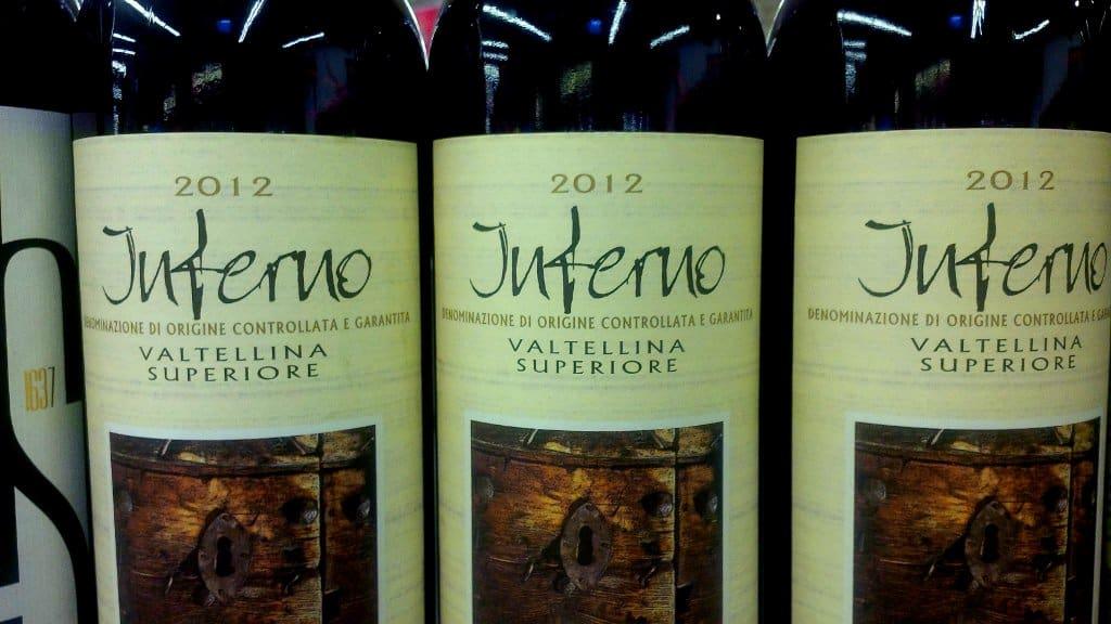 Vinho tinto da Valtellina - Inferno