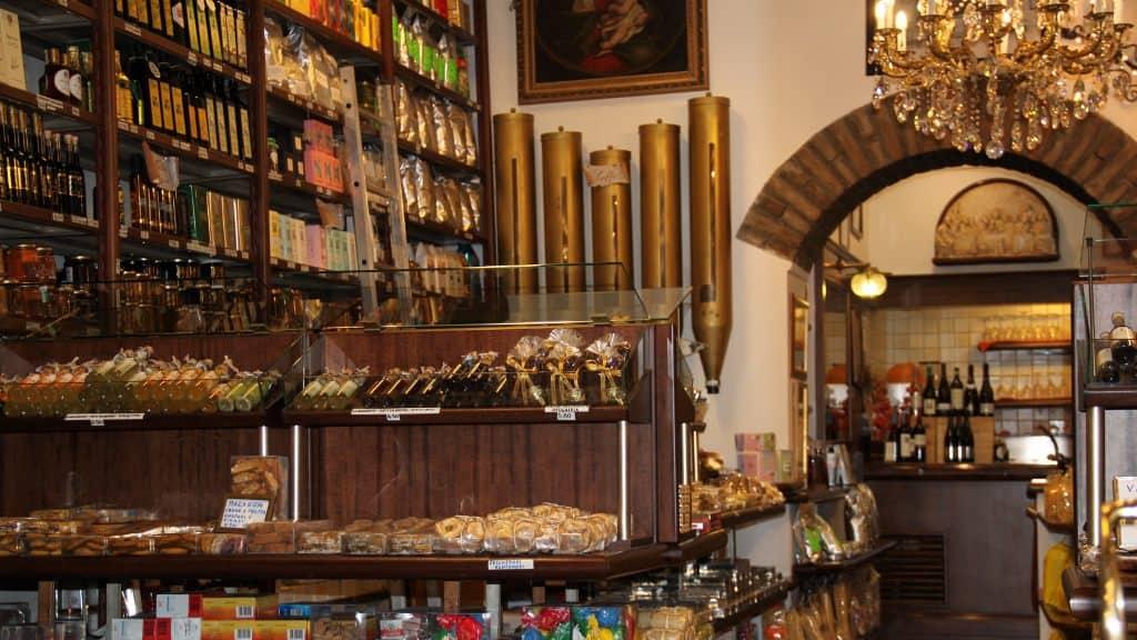 Produtos locais na Via em Bolonha