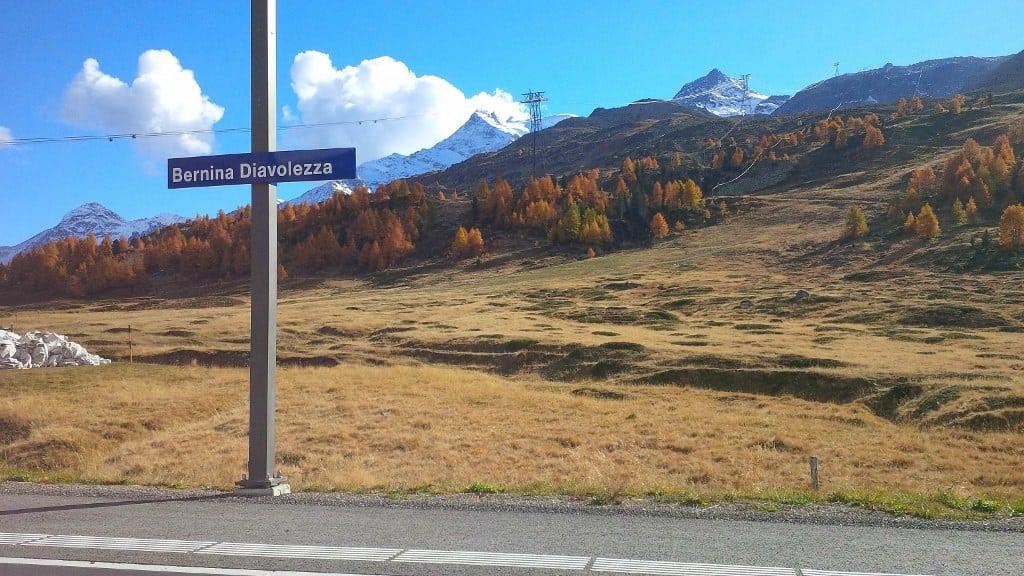 As cores do outono no Maçico Bernina