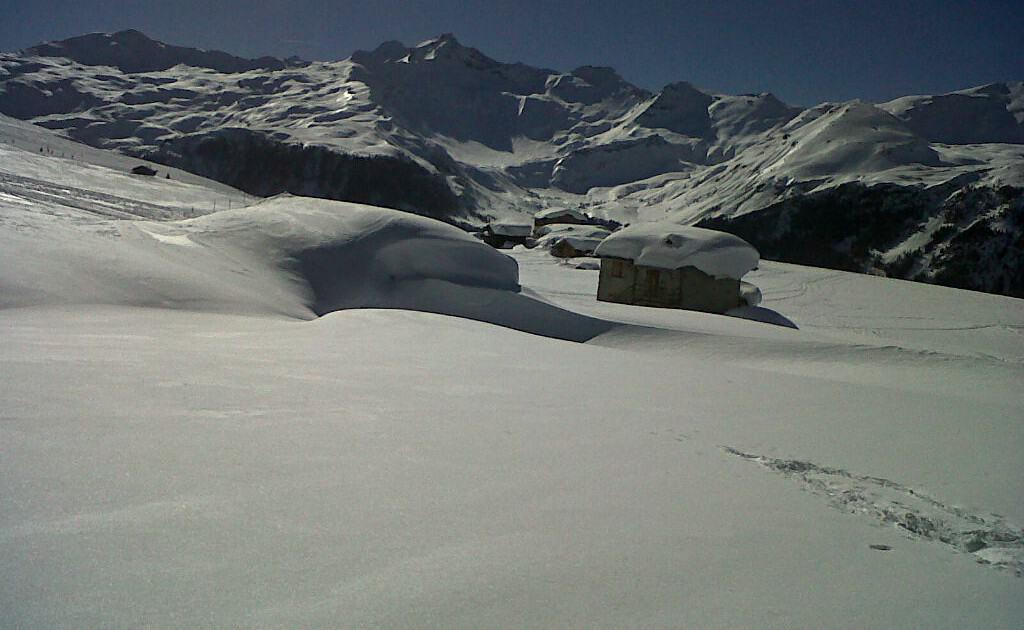 Madesimo oferece trilhas para passear na neve - Opção para quem não esquia