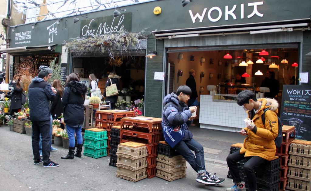 Comida de rua no Borough Market