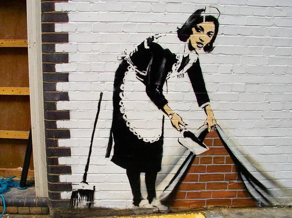 street art em londres - bansky