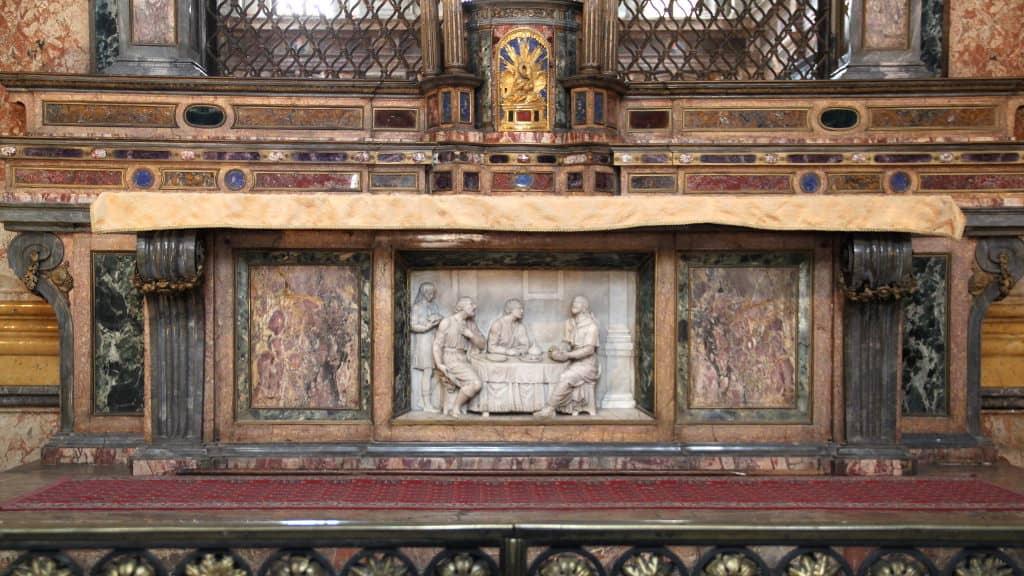 igreja de san maurizio - altar