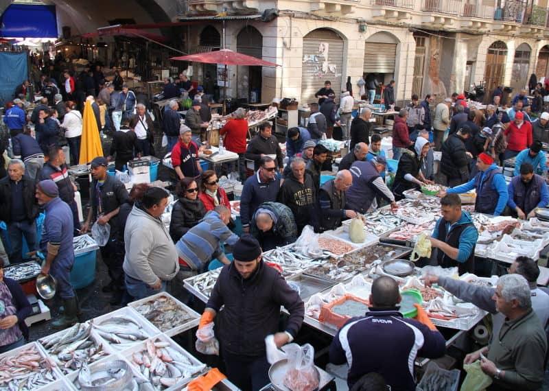 mercado do peixe de Catânia
