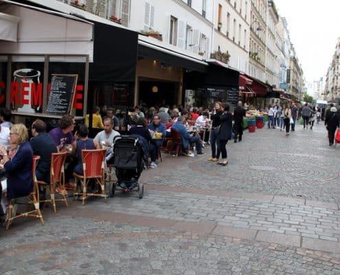 ruas gastronômicas de Paris