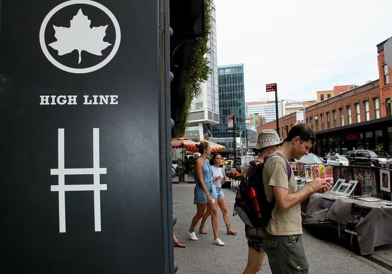 Entrada do High Line