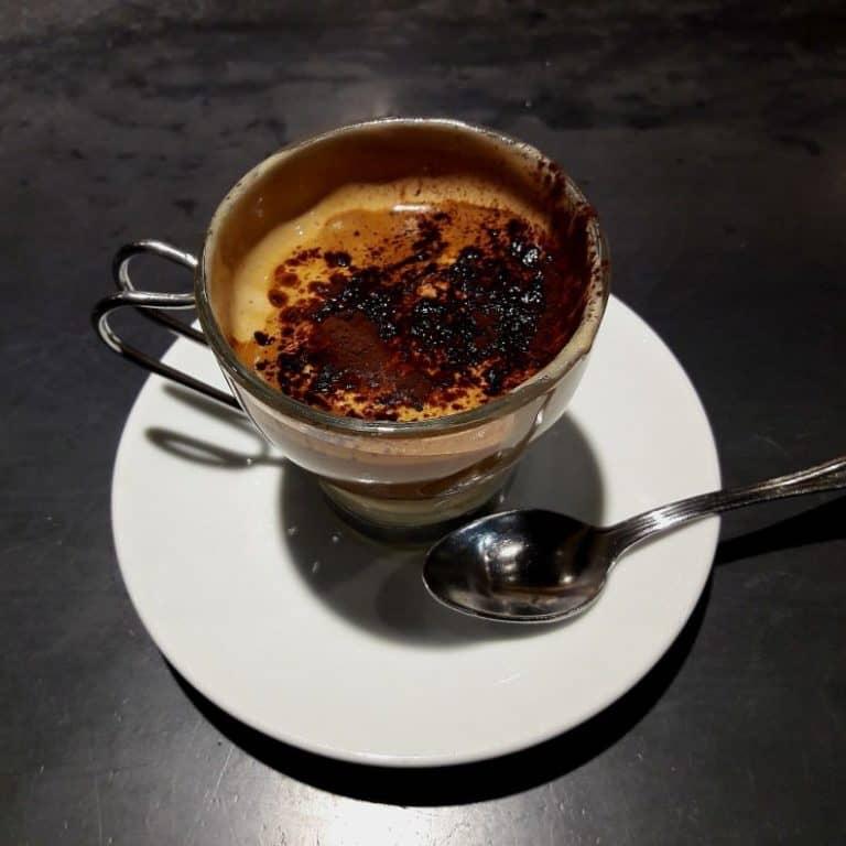 café com creme de avelã