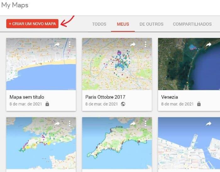 como usar Google My Maps